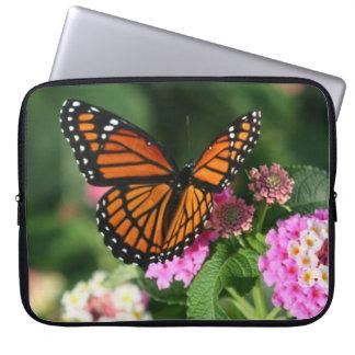 Beautiful Butterfly on Lantana Flower Laptop Sleeve
