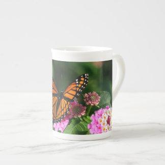 Beautiful Butterfly on Lantana Flower Tea Cup