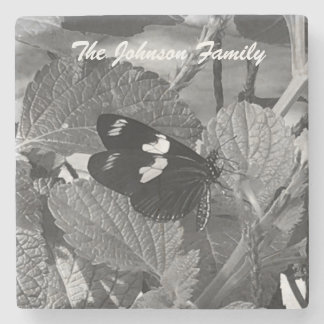 Beautiful Butterfly Personalize your family Stone Coaster