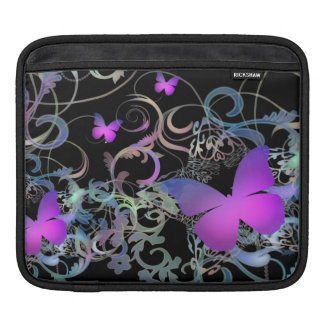 Beautiful Butterfly Swirl iPad Sleeve