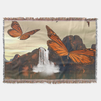Beautiful butterfly throw blanket