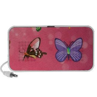 Beautiful butterfly vector travelling speaker