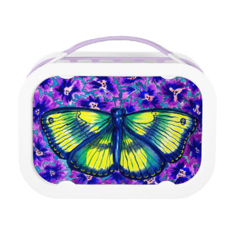 Beautiful Butterfly Watercolour Lunch Box