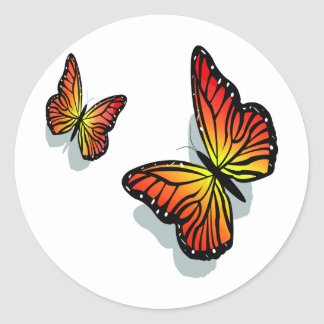 Beautiful Butterfly's Classic Round Sticker