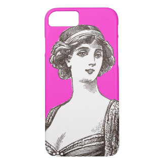 Beautiful Buxom French Vintage Flapper Lady iPhone 7 Case