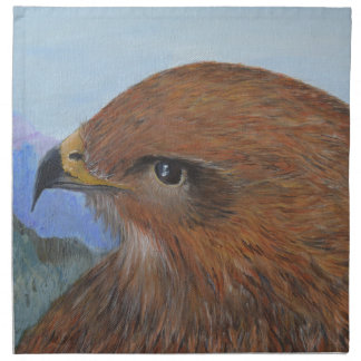 Beautiful buzzard in mountain landscape artworks napkin