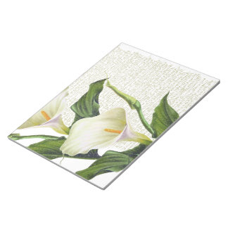 Beautiful Calla Lilies Notepad