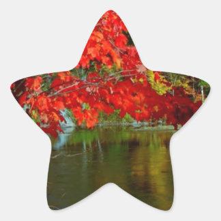 Beautiful Canadian Fall Season :  Greetings, Bless Star Sticker