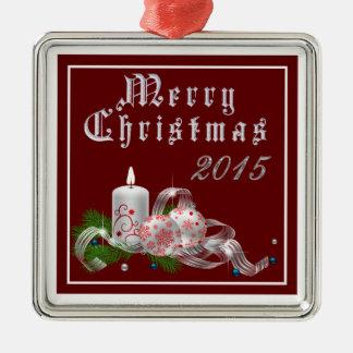 """Beautiful Candle Christmas 2015"" Premium Ornament"