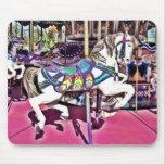 Beautiful Carousel Horse Carnival Mousepad