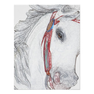 Beautiful Carousel Horse Custom Invitation