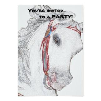 Beautiful Carousel Horse Custom Invitations
