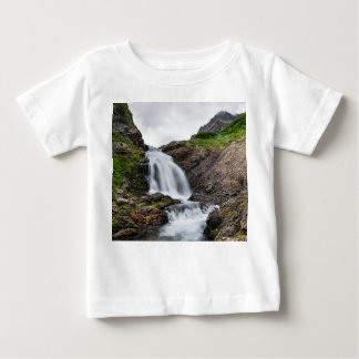 Beautiful cascade waterfall in mountain river baby T-Shirt