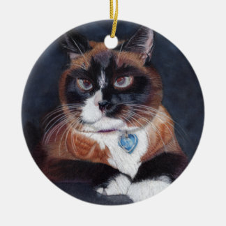 Beautiful Cat Christmas Ornament