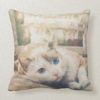 Beautiful cat throw pillow