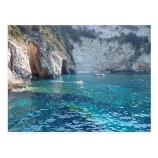 beautiful caves in Greece Postcard