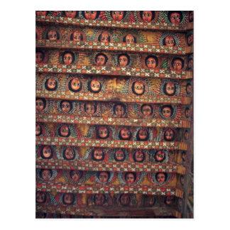 Beautiful Ceiling of Debre Birhan Selassie Church Postcard