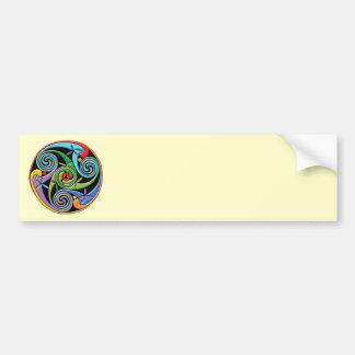 Beautiful Celtic Mandala with Colorful Swirls Bumper Stickers