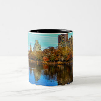Beautiful Central Park NYC Landscape Two-Tone Coffee Mug