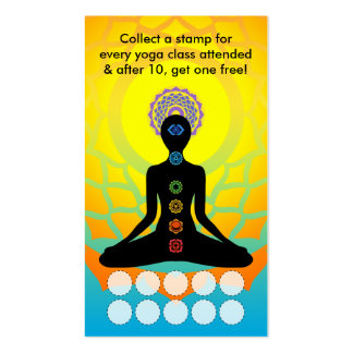beautiful chakras yoga loyalty program pack of standard business cards