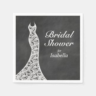 Beautiful Chalkboard Bridal Shower Napkin Disposable Napkins