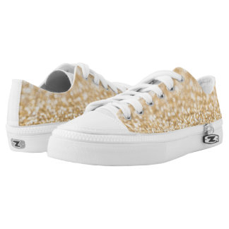 Beautiful champagne gold glitter sparkles low tops