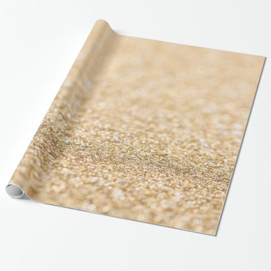 Beautiful champagne gold glitter sparkles wrapping paper