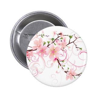 Beautiful Cherry Blossoms 6 Cm Round Badge