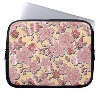 Beautiful cherry blossoms laptop computer sleeve