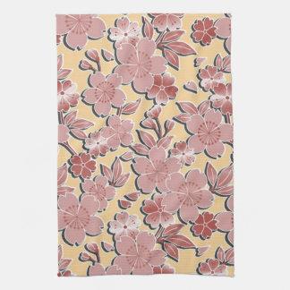 Beautiful cherry blossoms tea towel
