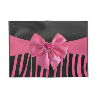 Beautiful chic elegant silk fabric effects zebra iPad mini cover