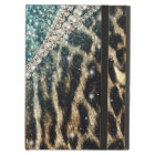 Beautiful chic girly leopard animal faux fur print iPad air cover