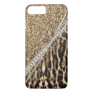 Beautiful chic girly leopard animal faux fur print iPhone 8 plus/7 plus case