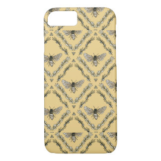 Beautiful Chic Hand-Drawn Bee Pattern iPhone 8/7 Case