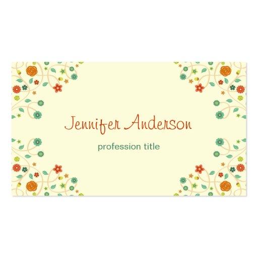 Premium nature business card templates beautiful chic nature stylish business card templates reheart Gallery
