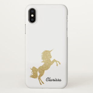 finest selection 40eb4 02221 Gold Unicorn iPhone X Cases & Covers | Zazzle.co.uk