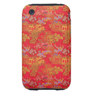 Beautiful Chinese Pattern Background iPhone case iPhone 3 Tough Cover
