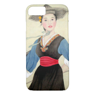 Beautiful Chinese Woman Vintage Art iPhone 7 Case