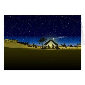 beautiful Christmas nativity image print Greeting Card