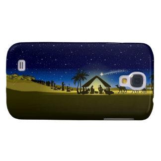 beautiful Christmas nativity image print Galaxy S4 Case