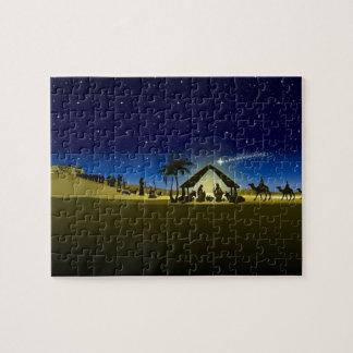 beautiful Christmas nativity image print Jigsaw Puzzle