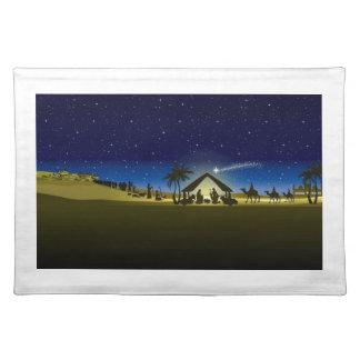 beautiful Christmas nativity image print Placemat