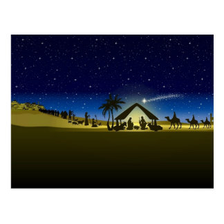 beautiful Christmas nativity image print Postcard