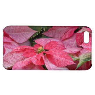Beautiful Christmas Poinsettia Photo Cover For iPhone 5C
