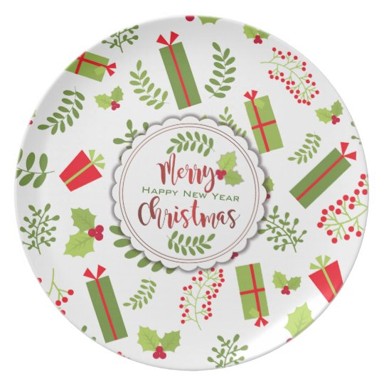 Beautiful Christmas Script Gifts Plate