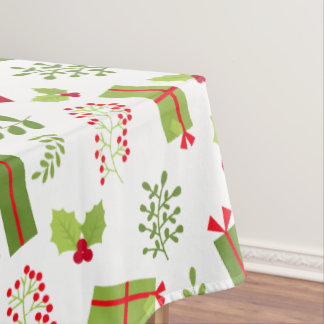 Beautiful Christmas Script Gifts Tablecloth