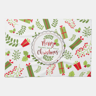 Beautiful Christmas Script Gifts Tea Towel