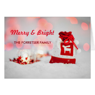 Beautiful Christmas Snow Merry & Bright Card