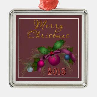 """Beautiful Christmas Tree 2015"" Premium Ornament"
