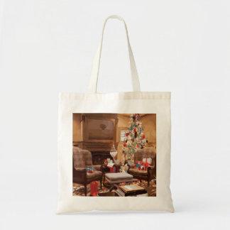 Beautiful Christmas Tree Living Room Scene Bag